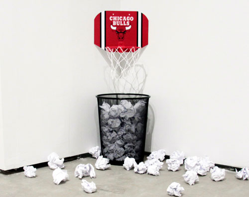 Novelty Bulls Mini Basketball Hoop, Office Waste Basket, Bad Ideas, 2u0027 X 4u0027  X 4u0027